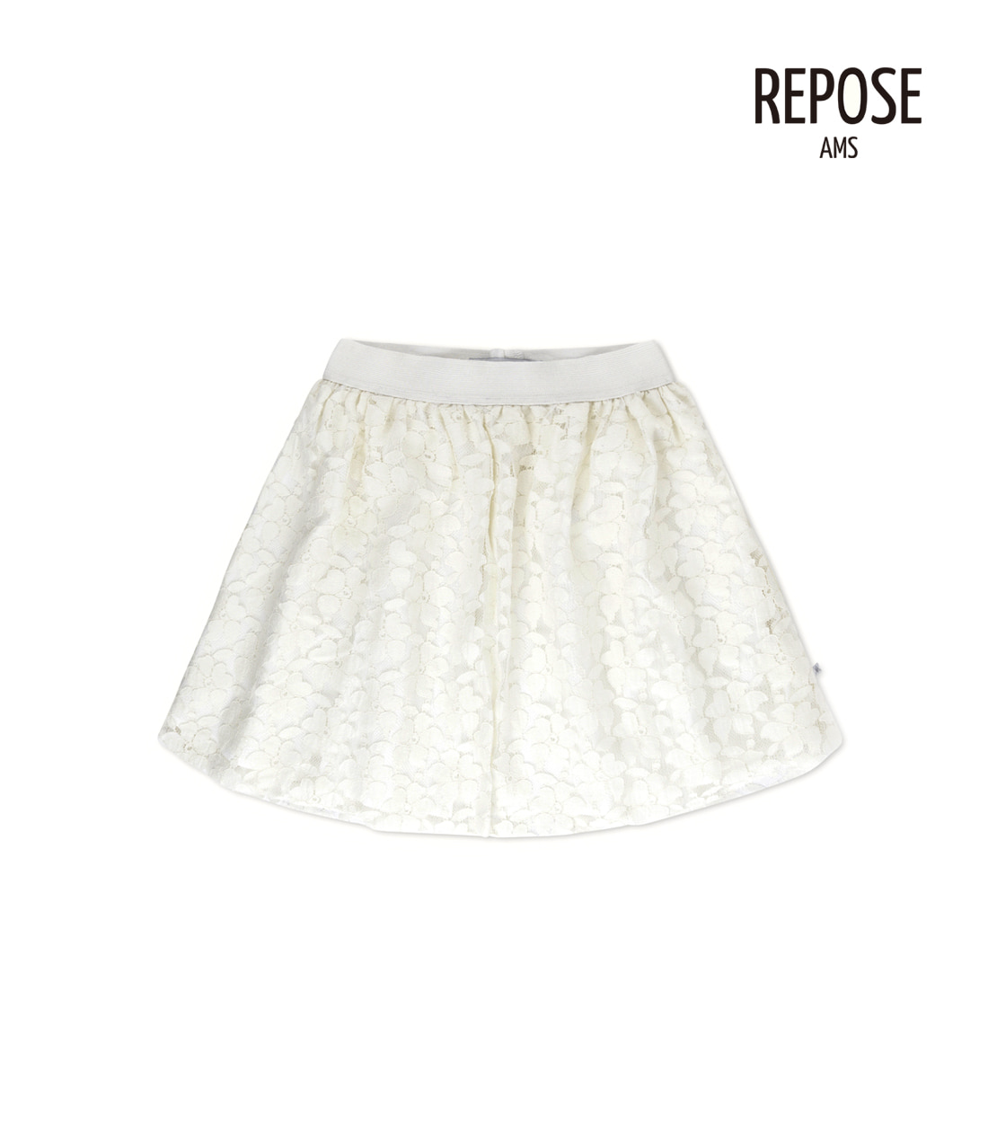리포즈암스 MIDI LACE SKIRT / WHITE