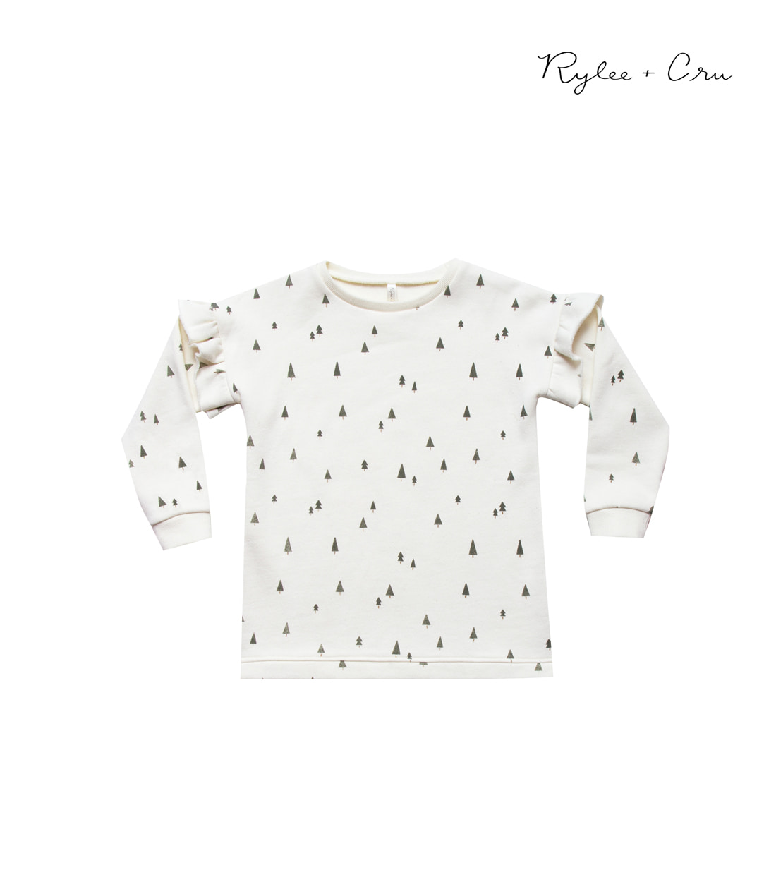 라일리앤크루 TREES SWEATSHIRT DRESS / IVORY