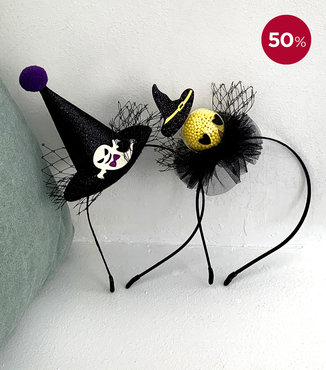 HALLOWEEN HEADBAND / BABY GHOST, BABY WITCH
