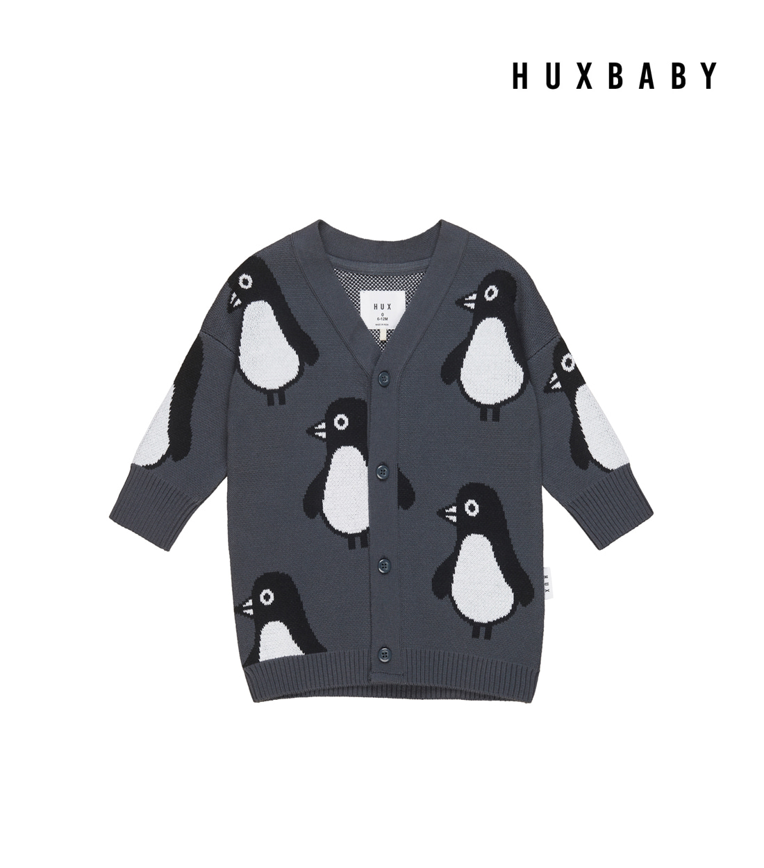 헉스베이비 PENGUIN KNIT CARDI / INK