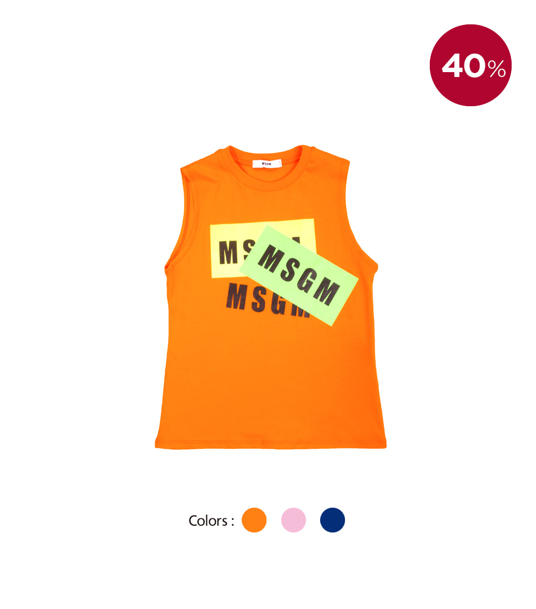 MSGM SLEEVELESS UNISEX / 3 COLORS