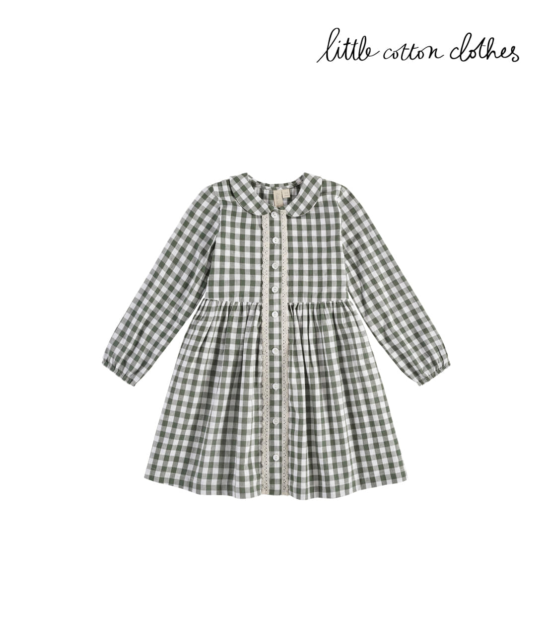 리틀코튼클로스 AGATHA DRESS / GREEN GINGHAM