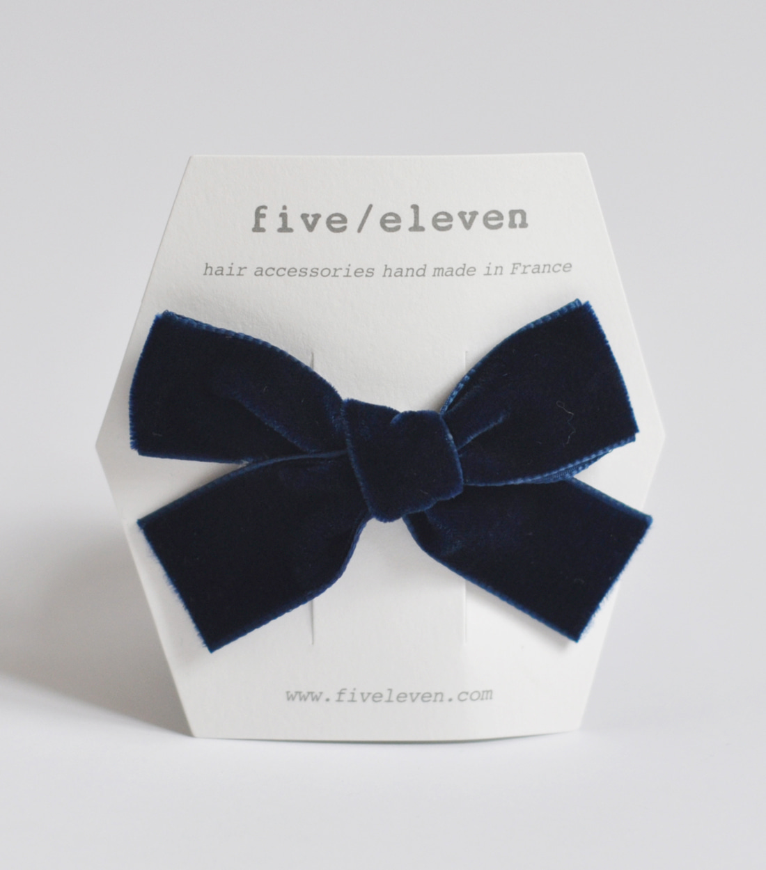 파이브앤일레븐 VELVET SINGLE BOW MED / NAVY