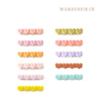 운더킨 HEART CLIPS / 11 COLORS